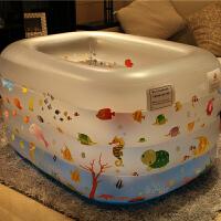乐亲 婴儿游泳池套装 粉色充气加厚儿童宝宝游泳池戏水池 洗澡海洋球池 气泵脖圈