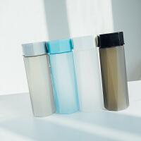 夏季简约随手杯磨砂水杯塑料耐热运动创意便携提绳杯子女个性菱形