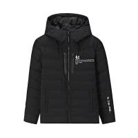 【券后预估价:119】361度男装冬季短款轻薄羽绒服保暖修身运动外套 基础黑 XS