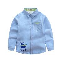 男童衬衫长袖秋冬装童装中大童儿童宝宝加绒休闲衬衣