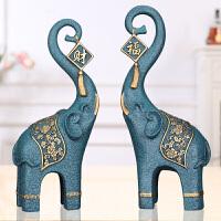 创意欧式摆件 大象客厅酒柜电视柜玄关家居装饰品天鹅摆件办公室摆设工艺品乔迁新居礼品