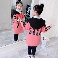 女童毛呢外套2018新款加厚韩版洋气中大童女孩冬装儿童呢子大衣潮