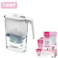 BWT倍世 过滤水壶净水壶净水器 3.6升 阻垢款白色 蓝色 一壶十二芯