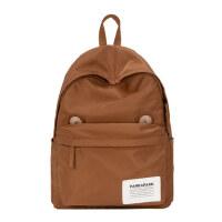 原创设计棕色大学生书包14寸电脑包可爱萌趣耳朵双肩包高中生背包
