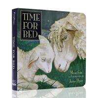 英文原版绘本 百本好书推荐名家作品 Time For Bed 该睡觉了 儿童读本 温馨睡前读物 纸板书 吴敏兰书单