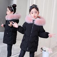 女童洋气中大童冬装加厚棉衣外套2019新款韩版儿童棉袄