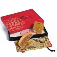 谭木匠 礼盒心动四 木梳子便携口红镜子 情侣礼物 创意礼物