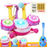 儿童架子鼓宝宝乐器男孩初学敲打爵士鼓女孩音乐0-1-3-6岁玩具 -