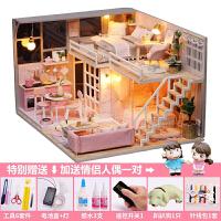 3d立体拼图木质模型女孩玩具屋少女房子手工制作DIY小屋儿童