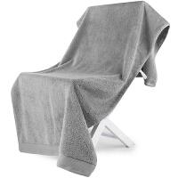 [当当自营]三利 A类加厚长绒棉 银灰 缎边大浴巾 纯棉吸水 柔软舒适 带挂绳 婴儿可用
