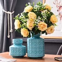 欧式装饰品摆件陶瓷插花干花瓶创意家居客厅桌面电视柜送结婚礼物
