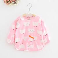 W 宝宝罩衣秋冬季水儿童围裙反穿衣男女童吃饭衣长袖婴儿棉护衣K29