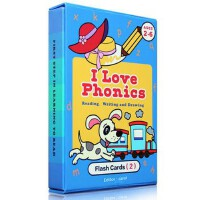 儿童启蒙认知闪卡I Love phonics Flash cards 2 自然拼读 幼儿英语启蒙 原版正版 认知词卡