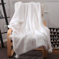 双层加厚冬季小毛毯子珊瑚绒单人夏季薄款空调毯午睡毯