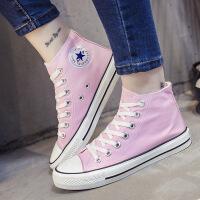 新款情侣低帮帆布鞋女韩版原宿风潮学生小白鞋夏季黑板鞋 粉
