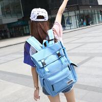 芭特莉【支持礼品卡支付】新款插锁背包女韩版潮书包女学生大容量双肩包旅行包运动休闲潮包CL#1635