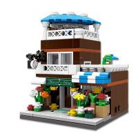 城市建筑积木儿童拼装玩具兼容乐高拼插创意百变迷你中国风街景古代房子模型男孩礼物3-6岁