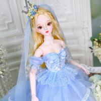 芭比娃娃 新年礼物 精品 德必胜娃娃梦童话系列60cm 26关节3分娃仿真玩具女孩公主礼物bjd换装 辛德瑞拉