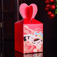 结婚礼盒 婚庆糖盒创意糖果盒喜糖盒包装盒中国风婚庆用品100个装