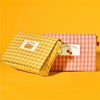黄色包包女斜挎包ins斜跨包时尚休闲小方包