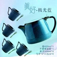 【新品热卖】欧式简约陶瓷咖啡壶带不锈钢滤网手冲闷煮小型滴漏壶茶杯器具套装