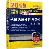 2019注册咨询工程师(投资)职业资格考试教习全书 项目决策分析与评价