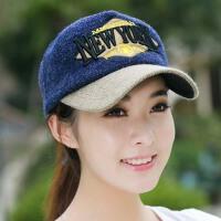 冬季韩版女士毛线帽子针织帽鸭舌帽嘻哈帽棒球帽男士潮韩版秋冬天