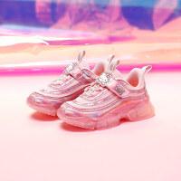【3折�r:107.7元】HelloKitty�P蒂�童鞋女童�\�有�秋季新款女孩透��和�鞋中大童老爹鞋K0533932