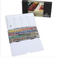 荷兰进口泰伦斯伦勃朗固体水彩颜料 48色 金属盒装