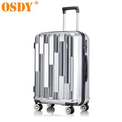 【可礼品卡支付】20寸 OSDY品牌新款 旅行箱 行李箱 拉杆箱  登机箱A45-耐压抗摔ABS+PC材质 静音万向轮可登机时尚个性的对流设计,凹凸有致的外在