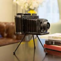 欧式复古北欧相机摆件模型创意家居咖啡厅房间酒柜书柜装饰品摆件