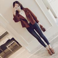 短款毛呢外套女2018冬装新款潮修身学生韩版加厚宽松呢子大衣外套