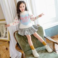 儿童套头毛衣时尚女童针织衫洋气童装中大童秋冬潮
