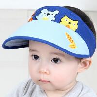 1-3岁宝宝空顶遮阳帽婴儿鸭舌帽太阳凉帽男女童儿童夏季帽子