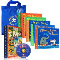 廖彩杏推荐16本套装I am library 十本套装(附CD)Maisy Swimbag小鼠波波6本套装(附环保袋) 用有声书轻松听出英语力第34-35周英文原版绘本 送音频