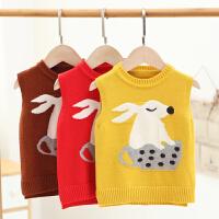 儿童背心秋冬季婴儿宝宝毛衣坎肩套头衫春秋新款女童毛衣男童马甲