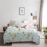 简约文艺小清新全棉四件套纯棉宿舍三件套被子被套床单1.8/1.5m米定制