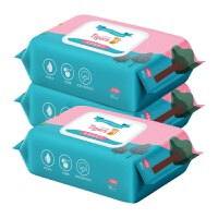 【领券立减50】【蓝漂】六只小虎 婴儿湿纸巾 3包装 (80抽/包)