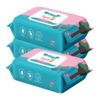 【3包】蓝漂 六只小虎 婴儿湿纸巾 3包装 (80抽/包)优质水刺无纺布 母婴可用 加厚加盖