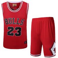 公牛队23号乔丹刺绣篮球服 NBA新面料篮球服套装球衣裤