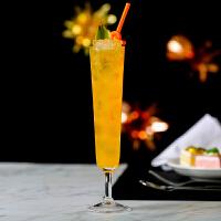 小容量鸡尾酒杯 创意冷饮杯起泡杯奶昔杯 玻璃杯超长果汁杯 250ml