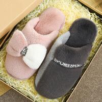 棉拖鞋女士冬季家居用保暖舒适情侣可爱少女心棉拖男冬天