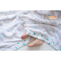 新生婴儿童宝宝竹纤维纯棉超柔纱布巾浴巾毛巾抱被夏季盖毯8层纱定制