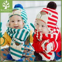 KK树儿童手套保暖五指加厚男童女童手套冬季小孩宝宝冬天