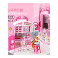 小伶玩具女孩公主女童3-5-6岁8儿童厨房玩具套装仿真厨具男孩儿童宝宝玩具 手提拉杆箱 厨房款