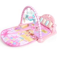 婴儿健身架器脚踏钢琴儿童宝宝男孩床铃脚蹬玩具脚踩十几个月 脚踏琴粉 可连接手机MP3 蜜蜂2405内容【充电