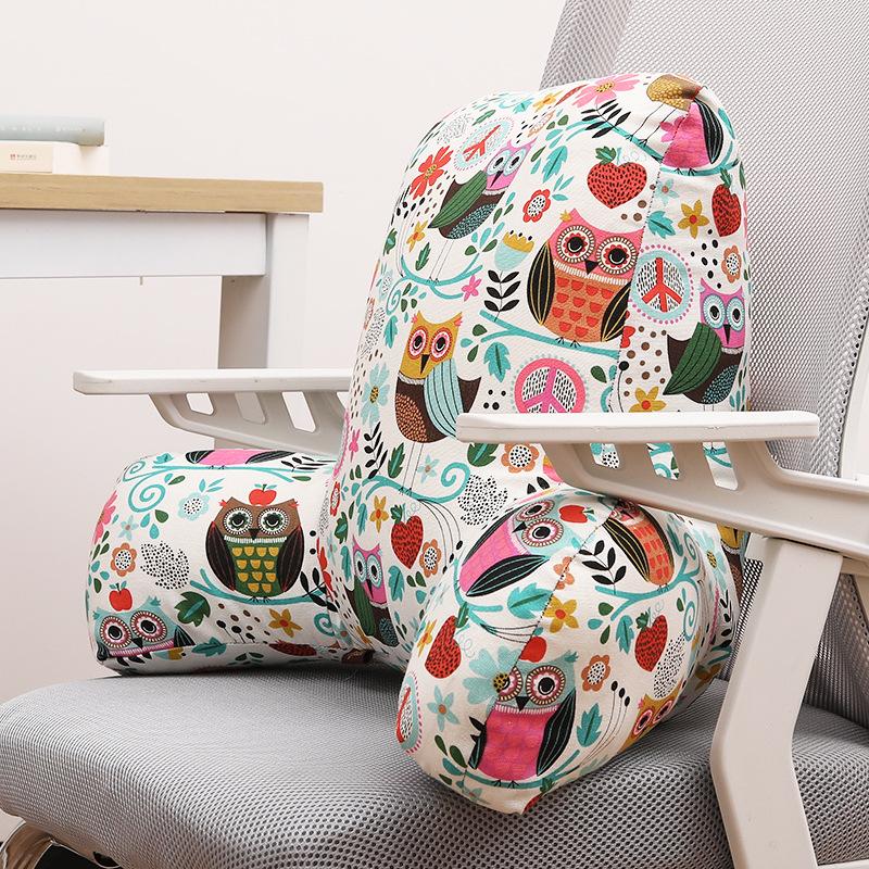 办公室办工腰靠垫护腰一体抱枕腰垫靠背垫孕妇腰部座椅子腰椎靠枕