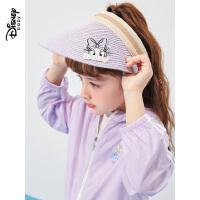 618【2件4折:38元】迪士尼女童太阳帽夏季儿童遮阳帽女2021新款夏季帽子时尚防晒帽子