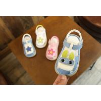 1-2-3岁男女童宝宝凉鞋包头婴儿鞋2019夏季学步凉鞋软底鞋