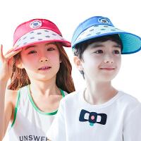 �和�帽子夏男童女童空�帽2-4-8�q防�衩闭陉�帽